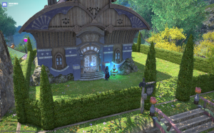 House Dragonia. Blue, of course.